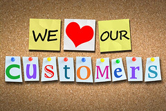 We love our customers! (Empire Motors Montclair Ca) Tags: customer love publicrelation wooden cork billboard pins multicolored heart red yellow our respect satisfaction anticipation business manager occupation symbol advice loyalty service consoling marketing incentive perfection handwriting admiration holding control strategy ratings happy romania