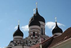"""The  religious Onions."" (irio.jyske) Tags: onion dome religious house building city tallin estonia black white sky sigma canon"