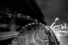 Barbwire III (#fuerstlife) Tags: barbwire stacheldraht fuerstlife blackwhite schwarzweiss bw sw nighthawk nightshot night nacht noctem schwarzweis streetlife street