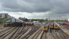 old and new, Clapham Junction yard (looper23) Tags: class 455 707 clapham junction yard swt april 2017 london rail railway
