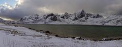 every fjord ends somewhere (lunaryuna) Tags: norway lofoten lofotenislands lofotenarchipelago panorama landscape seascape coast shoreline mountainrange