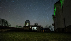 The Lubcha Castle in Belarus (free3yourmind) Tags: lubcha castle belarus night sky stars trees grass view любчанский замок беларусь