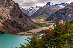 Jeinimeni central vally (FedericoJensen) Tags: lake lago glacier glaciar snow nieve patagonia aysen chile austral road carretera forest river rocks vally landscape paisaje