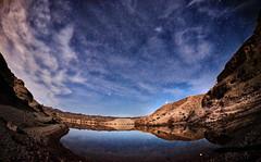Midnight on the Colorado River (johnsinclair8888) Tags: sliderssunday hdr nikon fisheye nevada stars nelson river coloradariver sigma affinityphoto aurorahdr johndavis clouds longexposure moonlight