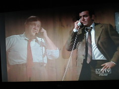 Typical Holographic Phone Conversation Mannix 4674 (Brechtbug) Tags: mike connors joe mannix phone with holographic apparition judge 1960s 1970s 60s 70s tv show episode 04222017 nyc metv new york city 2017 ghost anti split screens screen grab screengrab conversation fictitious bogus silly transparent