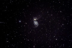 春の星空散歩 M51 子持ち銀河 (Magic wands ☆) Tags: 下伊那郡 長野県 日本 阿智村 星雲 星団 銀河 星 star m51