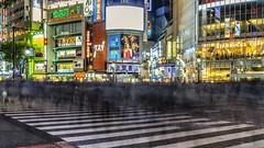 Shibuya Crossing Phantoms (Javiralv) Tags: shibuya tokyo tokio crossing intersection cruce japan japon japón night time lapse