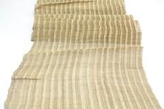 Hand Loomed Hemp (FurugiStar) Tags: hemp linen fabric textile asa asian furugistar panel natural beige brown white stripe striped rough weave