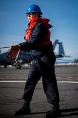170422-N-VN584-593 (U.S. Pacific Fleet) Tags: usstheodoreroosevelt cvn71 vn584 alex corona militarysealiftcommand fleetreplenishmentoiler usnsguadalupe tao200 replenishment underway alongside heaves tendingline