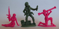 Pink Army Women 19 (SixbyFire) Tags: pinkarmywomen japan 132 54mm 58mm armymen armywomen figures poses import gashapon atlantic commandos commandoes toysoldiers toysoldier toy soldier