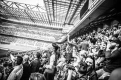 Matchday (Henka69) Tags: giuseppemeazza sansiro monochrome people bw stadium soccer street streetphoto