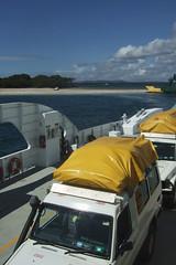 Breaking The Back (Swebbatron) Tags: australia queensland fraserisland island ferry 2008 jeep buggy travel radlab camping inskip inskipferry fuji lifeofswebb