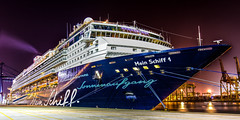 Mein Schiff 1 (Juergen Huettel Photography) Tags: ship cruise port night black mein schiff 1 hdr meinschiff1 laem chabang thailand asien blue jhuettel light holiday cruiseship