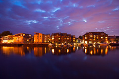 River view (Ollie Barr) Tags: river thames canon 550d eos digital slr dslr 1018mm lens lense tripod long exposure wide angle wideangle 5 second reflection apartment view