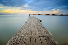 Crooked Solitude (Bernhard Sitzwohl) Tags: jetty sunset water lake neusiedl outdoor