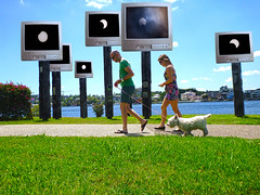 Solar Eclipse (Patricia Woods) Tags: sun solar eclipse tv artphoto interpretive oldtevevisionsetbrisbanebrisbane rivereclipsesolar