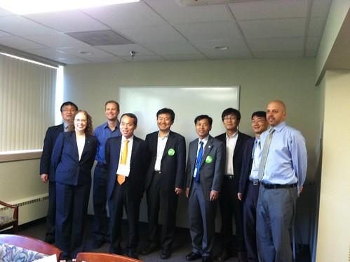 Photo - Liz Hanson, Economic Vitality Coordinator, with Korean delegation