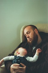 55100002 (Marisa White) Tags: family film beard nikon infant sleep michigan father daughter naturallight