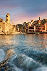 vernazza village, Cinque Terre, Italy (Beboy_photographies) Tags: sea italy church harbor village angle wide wave wideangle terre cinqueterre cinque foreground beboy rnazza