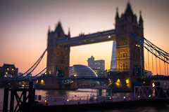 Tower Bridge (Tilt Shift) (Hal Bergman Photography) Tags: uk england london towerbridge landmark tiltshift unitedkindgom