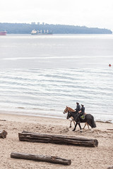 Mounted Police (mouellic) Tags: park horses beach photography cops nelson seawall stanley rcmp mounties mouellic
