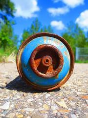 . (Pour Decisions) Tags: street blue urban streetart calgary art graffiti rust paint graf spray alberta spraypaint graff aerosol 403 spraycan yyc kobra pourdecisions yycgraffiti