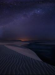 Starlight Dunes by Michael Anderson (AndersonImages) Tags: brazil brasil stars twilight sanddunes milkyway lencoismaranhenses michaelanderson brazilbeach barreirenhas