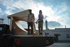 Loading (Slowly Black) Tags: sky sun canada vancouver clouds truck bc skateboarding ramps benny setup zengabros hoteltakeover