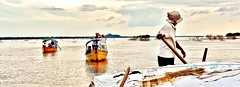 Kratie, Cambodia, 2011 (Katrine Hansen 21) Tags: travel sunset people river cambodia colours character festivals seas kratie