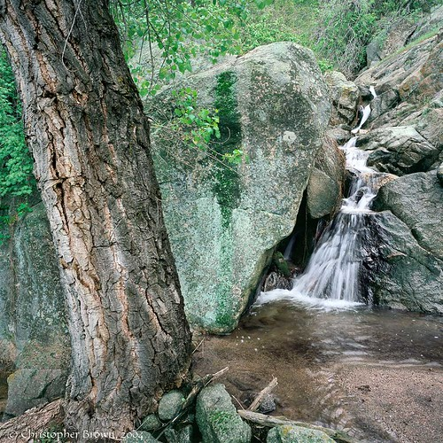 Photo - Small ephemeral cascade in the foothills of OSMP.