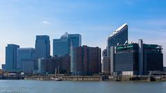 "The tall ship ""Lady of Avenel"" passing Canary Wharf (ceeko) Tags: england london unitedkingdom sails docklands tallship canarywharf riverthames 2013 olympusem5 ladyofavenel"