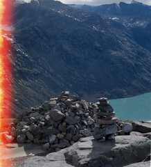 37 Besseggen (M. SCHULZ) Tags: exa 1b canon 9000f kodak farbwelt 400 analog norwegen 35mm besseggen gjende jotunheimen film norway norge ihagee iso analogue