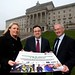 Employment and Learning Minster Dr Stephen Farry pictured with Heather Ferguson from Dunbia food company, Dungannon, and John Quinn from Southern Regional College at the launch of the innovative new Food Engineering Apprenticeship