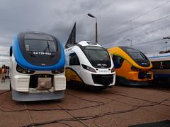 Trójca (maacaron) Tags: expo trains link alstom locomotives impuls gdańsk pendolino targi pesa trako 2013 newag amberexpo trako2013