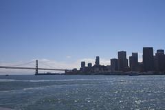 Bay Bridge and San Francisco (Rebecca Sharplin Hughes) Tags: sanfrancisco city sea summer usa hot water america bay boat amazing view sunny busy american choppy