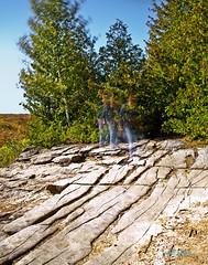 The Ghost of the Nottawasaga Bluffs (Fire Fly5) Tags: longexposure ghost trails limestone bluejeans bluffs niagaraescarpment ndfilter brucetrail ianlangconsarea