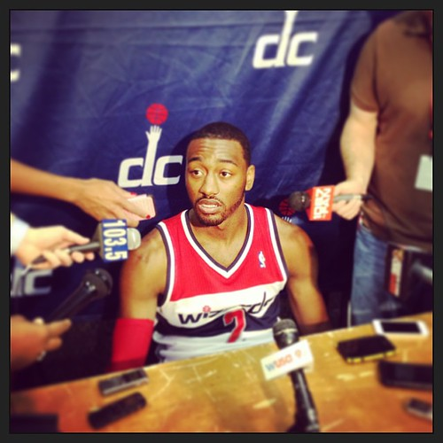 Previously, John Wall A - #Wizards Media Day