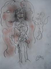 CARESSES EXTATIQUES (Claude Bolduc) Tags: sexart anorexia outsiderart artsingulier lowbrow intuitiveart visionaryart
