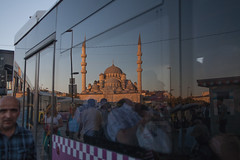 Reflections (niledream) Tags: street people bus architecture reflections turkey streetphotography istanbul mosque eminn