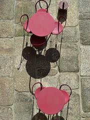 Today's menu is Ratatouille (TheManWhoPlantedTrees) Tags: stone table shadows chairs pavement guimarães ratatouille pavimento granit nikond3100 tmwpt