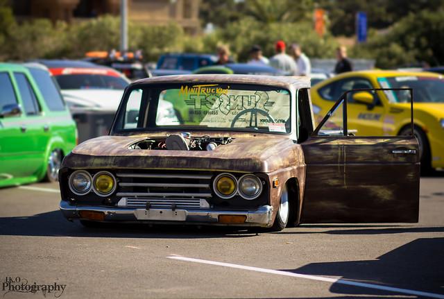 rust pickup sema mazda dropped slammed stance badidea 2013 stanced jkophotography