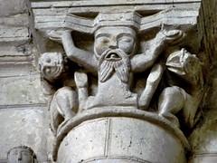 Airvault - Saint-Pierre (Martin M. Miles (gone for a walk)) Tags: france lion 79 augustinian deuxsèvres poitevin poitoucharentes airvault masterofbeasts viaturonensis stylesaintonge audéarde