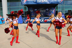 IMG_8926 (grooverman) Tags: plaza game sexy canon eos rebel football nice texas cheerleaders legs boots stadium nfl houston t3 dslr budweiser texans pregame reliant 2013
