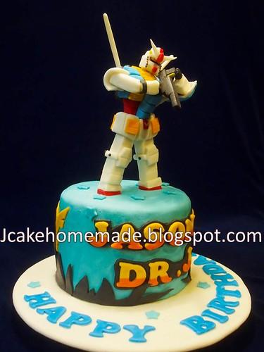 Gundam Birthday Cake A Photo On Flickriver