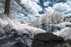 Rock Chapel (shutterclick3x) Tags: trees ir countryside infrared backroads creativemindsphotography alwaysexcellent absolutegoldenmasterpiece frankloose