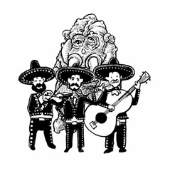 Mariachiszilla (Don Moyer) Tags: moleskine monster ink notebook sketch drawing doodle moyer brushpen mariachis donmoyer