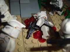 Death of a Soldier (John_Snow55) Tags: red death star starwars cool blood desert lego massacre pic clones guns lonely wars armour studs blasters