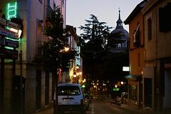 Sleepy Town (kostyasticky) Tags: city light espaa canon 50mm europe colours nobody nightphoto escorial filmphoto