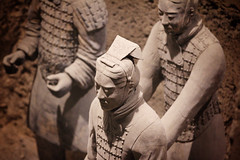 Guardian (lukemarkof) Tags: china light shadow black building art history classic canon dark fun ancient exposure play view style funky special exotic xian terracottawarriors depth interest built challenging bingmayong 2013 australianphotographers 60d