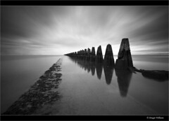 Cramond Causeway (Explored Dec 29th 2013) (Dougie Williams) Tags: blackandwhite island mono edinburgh horizon explore lee 5d isle 1740mm dougie exposures cramond cramondisland explored 5dmkii nd10stop leebigstopper dougiewilliams